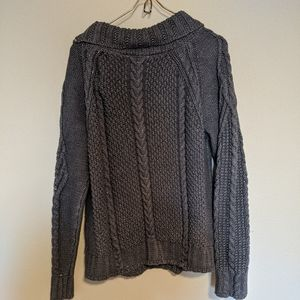 The reeds from j crew cableknit sweater